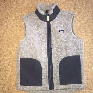 Patagonia grey/blue retro vest boys